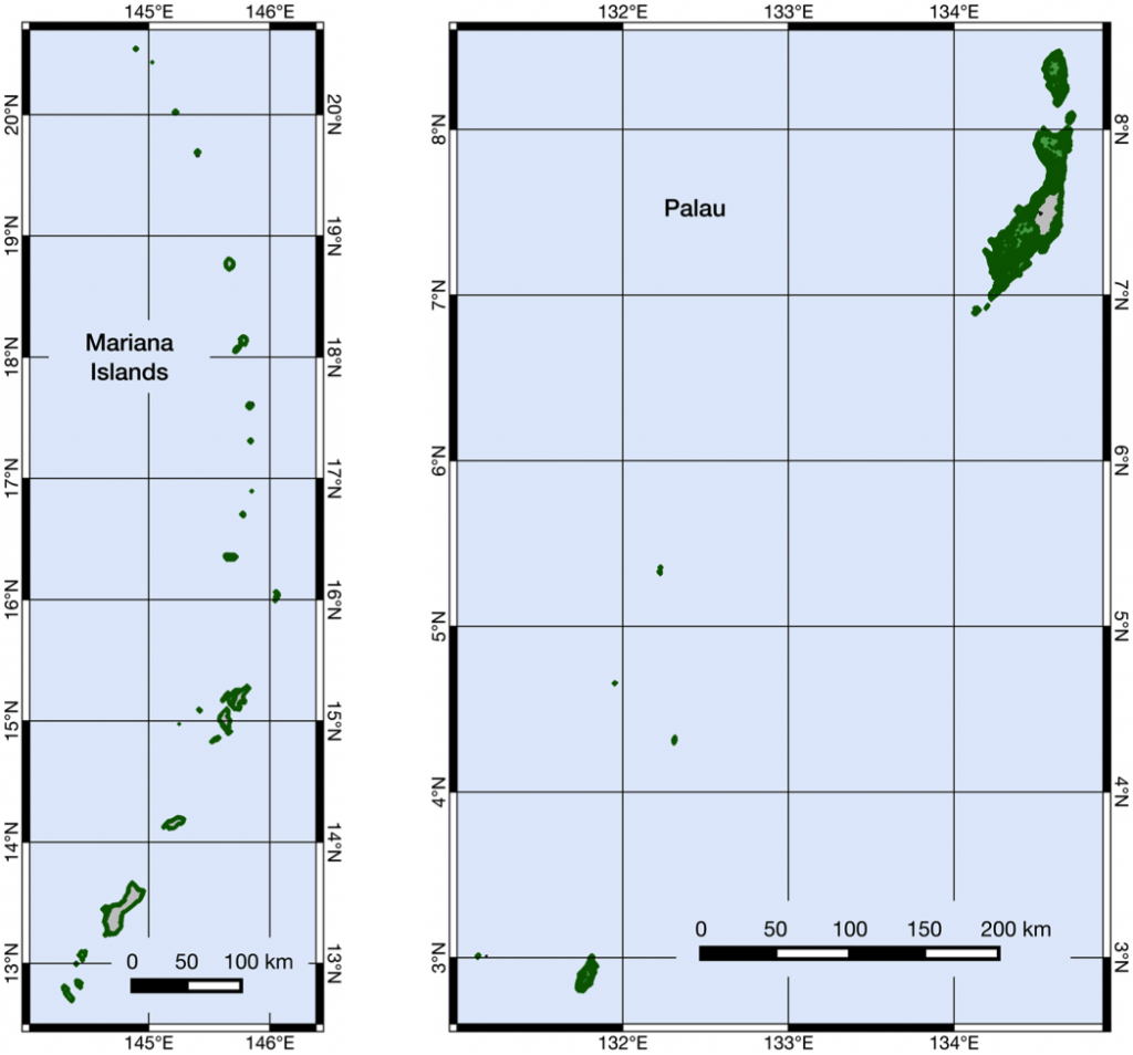 Marianas and Palau